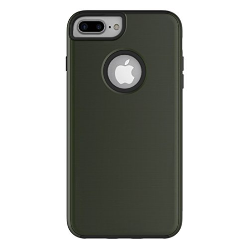 MXNET IPhone 7 Plus Case, Einfache Brushed Texture 2 in 1 PC + TPU Combination Schutzhülle CASE FÜR IPHONE 7 PLUS ( Color : Army green )