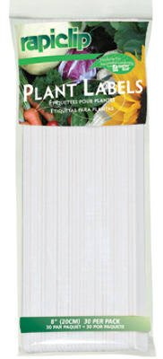 Luster Leaf 843 Rapiclip 8-Inch Garden Plant Labels, 12-Pack