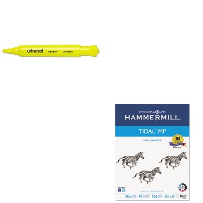 KITHAM162008UNV08861 - Value Kit - Hammermill Everyday Copy And Print Paper (HAM162008) and Universal Desk Highlighter (UNV08861)