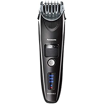 Panasonic Beard Trimmer for Men Cordless Precision Power, Hair Clipper with Comb Attachment and 19 Adjustable Settings, Wet/Dry, ER-SB40-K