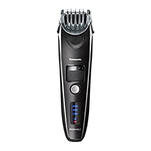 Panasonic Beard Trimmer for Men Cordless Precision Power, Hair Clipper with Comb Attachment and 19 Adjustable Settings, Washable, ER-SB40-K