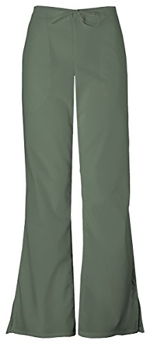 WorkWear 4101 Women's Low Rise Flare Scrub Pant Olive X-Small
