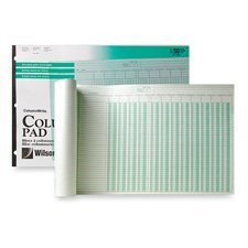 Side-Punched Columnar Pad, 12 8-Unit Columns, Perforated Heading, 11 x 16-3/8, Sold as 1 Pad by Wilson Jones