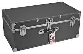Kids Footlocker (Mercury Luggage Stackable Storage Locker, 30 inch Dark Silver)
