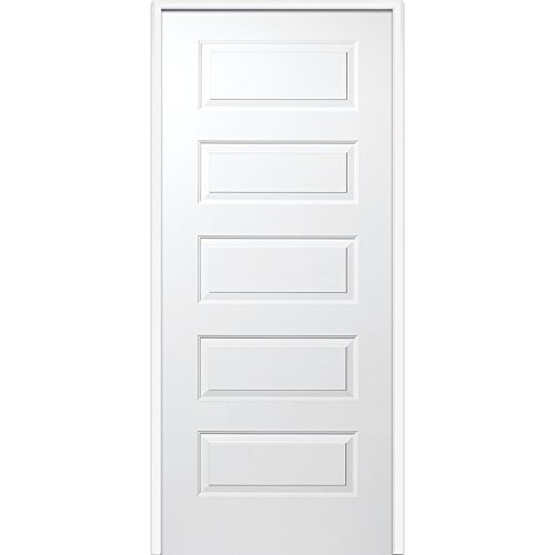 National Door Company Z009467L Solid Core Molded 5-Panel, Left Hand Prehung Interior Door, 36'' x 80'' by National Door Company