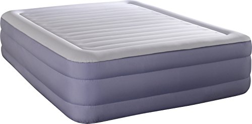 Simmons Beautyrest Fusion Aire Inflatable Air Mattress: Raised-Profile Air Bed with Internal Pump, Queen Boyd Night Air