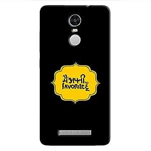 Cover it up Mein Apni Favourite Hoon Hard Case for Xiaomi Redmi Note 3 - Multi Color