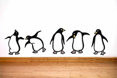 - Sweetums Signatures Set Of Penguins Printed Wall Decals