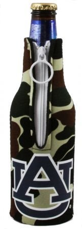 (AUBURN TIGERS CAMO BOTTLE SUIT KOOZIE COOZIE COOLER)