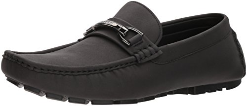 GUESS Men's AXLE Driving Style Loafer, Black, 11 Medium US