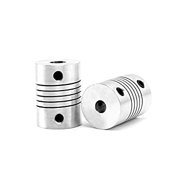 Fevas 10Pcs Elastic Winding Flexible Coupling D19L25 3//4//5//6//6.35//7//8//10mm Economical Shaft Coupling Transmission Motor Coupler Inner Diameter: 8X10mm