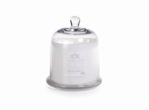 Large Glass Jar Candle with Bell Cloche, Spring Crocus Scent