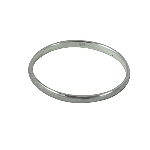 apop nyc Sterling Silver 2mm Band Thin Stacking Ring Size 2 Midi by apop nyc