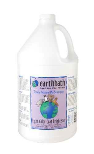 Earthbath Light Color Coat Brightener Concentrated Shampoo, 1-Gallon (Brightener Coat Color Light)