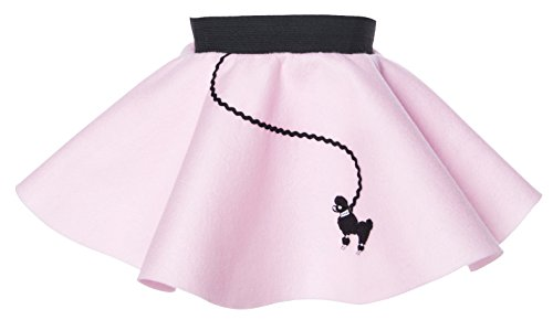 Hip Hop 50s Shop Baby and Toddler Poodle Skirt (Light Pink, (Easy Retro Halloween Costumes)
