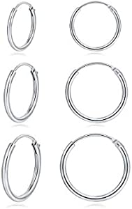 Sweepstakes: Hoop Earring 14K White Gold Plated S925...
