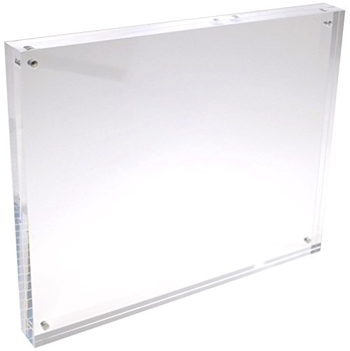 5x7 Clear Acrylic Picture Frame - 20% Thicker Blocks - 0.95 inch/24 mm Thick - Magnetic Acrylic Photo Frames - Desktop Only - 5x7 Inches
