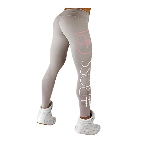 Letter Yoga Pants, Women's Fashion Workout Leggings Fitness Sports Gym Running Yoga Athletic Pants by ()