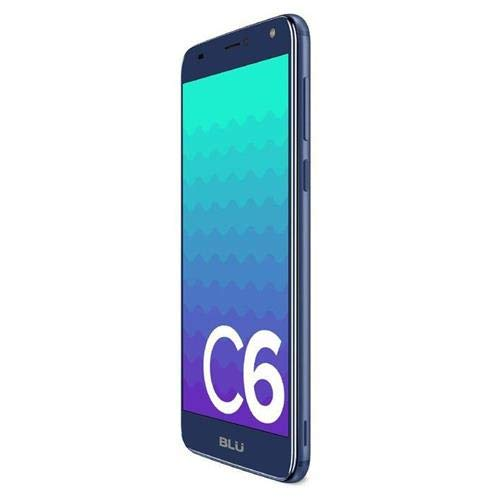 Blu C6 Unlocked Cell Phone 5.5'' Display 16GB/1GB Room Android V.8.1 Oreo(Go Edition) att,Tmobile Metro PCS Cell Phone(Blue) (Blu Cell Phone Unlocked Quad Core)