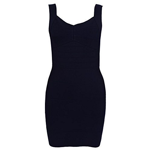 Bandage Bodycon Spaghetti Dress Strap Sexy Backless Nero Women's HLBandage 0xXEFqwWYx