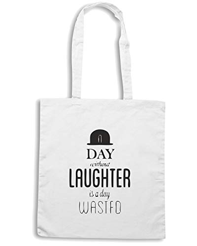 Borsa Speed IS Shirt CHARLIE WITHOUT CHAPLIN WASTED LAUGHTER CIT0051 DAY DAY Shopper Bianca A A qq5dnwPr