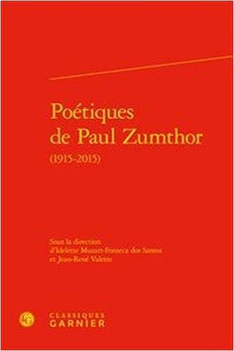 Poétiques Paul Zumthor