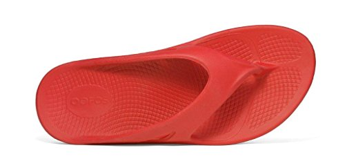 cfd3750f3630 Oofos OOriginal Thong Sandal RED (INCLUDES FREE FOOT ROLLER MASSAGER)  delicate