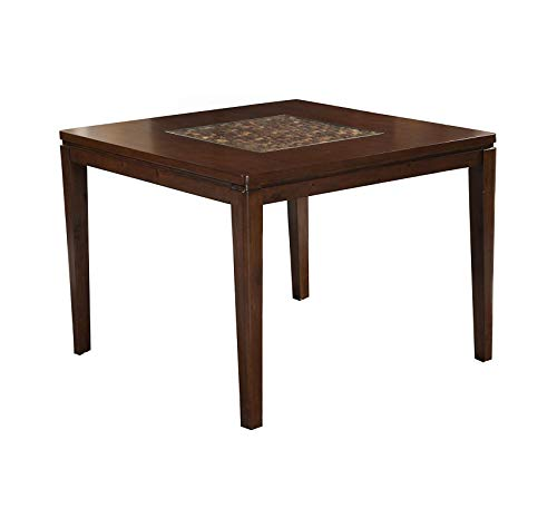 Wood & Style Furniture Granada Counter Height Pub Table, Brown Merlot Home Bar Pub Café Office Commercial