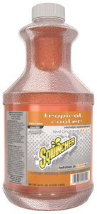 Sqwincher Cooler Tropical (64oz Bottle (5gal Yield) Tropical Cooler Liquid Concentrate Electrolyte Replacement Sports Drink)