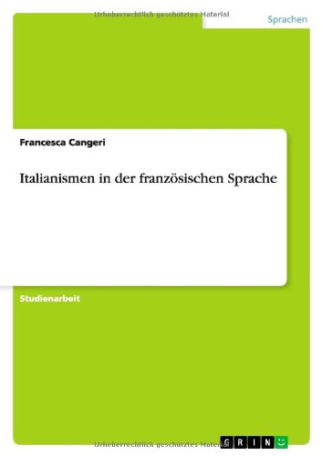 Italianismen in der französischen Sprache