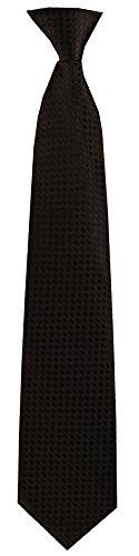 FlaskTie Men's Microfiber Adjustable Clasp On Novelty Necktie (Hidden 8 Ounce Bladder) Solid Black