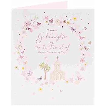 Amazon goddaughter christening christening greeting cards goddaughter christening christening greeting cards new baby girl pink m4hsunfo