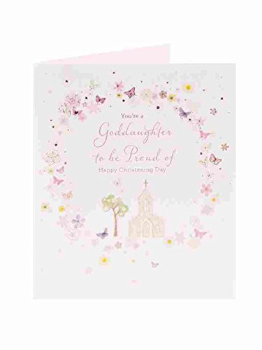 Amazon goddaughter christening christening greeting cards goddaughter christening christening greeting cards new baby girl pink m4hsunfo