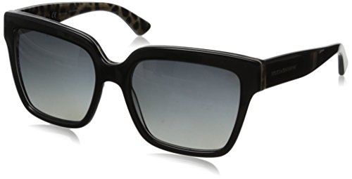 D&G Dolce & Gabbana Women's 0DG4234 Square Polarized Sunglasses,Top Black/Leopard,57 - And 2014 Gabbana Dolce Sunglasses