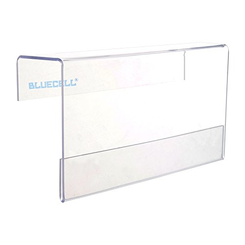 BCP Clear Color Acrylic Office Screen Name Badge Holder/ Cubicle Nameplate Holder - Clear Name Plate Holder