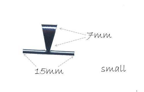 Sterling Silver 15mm Qty=1 uGems Broach//Pendant Converter Bail Enhancer Improved
