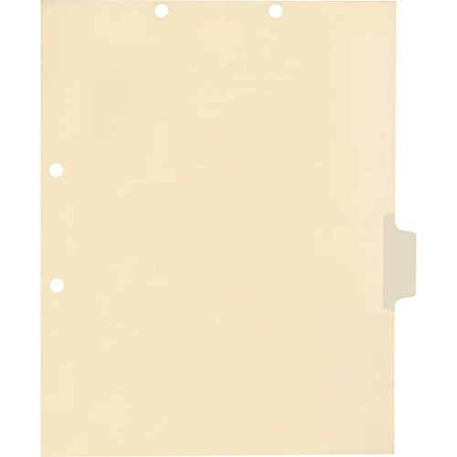 Medical Arts Press Match Write-On Side Tab Chart Dividers- Blank, Position 4 (100/Pkg) ()