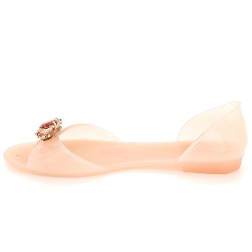 Pantoufle Femmes LONDON Diamante Soir Taille Rose Sandales Dames Été Gelée Décontractée Doux des AARZ Chaussures Plat Cvwqxx