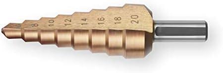 Bergin Stufenbohrer HSS-Co 5 Stufen, Ø 4-12 mm