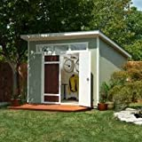 Aston 10 ft. x 7.5 ft. Wood Shed