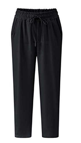 Linen Blend Cropped Pants - 7