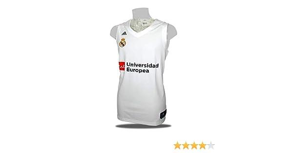 adidas Camiseta Baloncesto Real Madrid 18/19 Blanca (XXL): Amazon.es: Deportes y aire libre