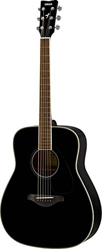 Yamaha FG820 Solid Top Acoustic Guitar, Black