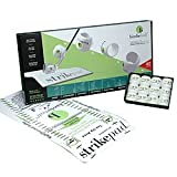 Birdie Ball Limited Distance Golf Practice Ball Twelve Ball Pack with Strike Pad, Outdoor Stuffs