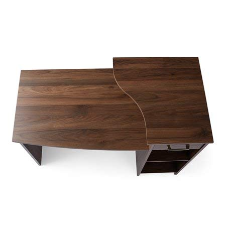 Mainstays Student Desk Canyon Walnut + Cleaning Cloth