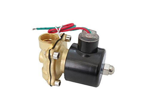 1//2 inch 220V-240V AC Brass Electric Solenoid Valve NPT Gas Water Air N//C