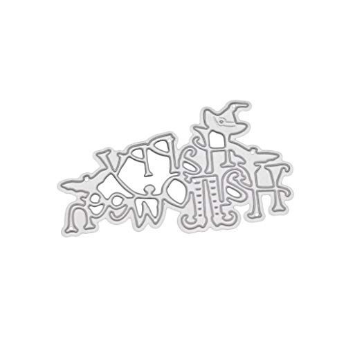 Oranmay Happy Halloween Metal DIY Cutting Dies Stencil Scrapbooking Embossing Paper Card -