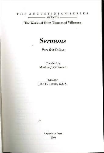 Six Sermons For Saints