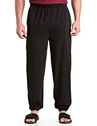 by DXL Big and Tall Cinched-Hem Jersey Pants