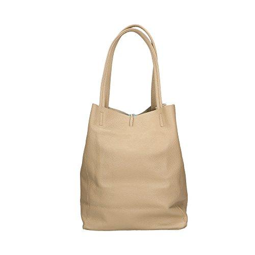 Barro bolsa Italy Aren hombro en in 27x33x13 Made de Cm cuero genuino Mujer F5wO7